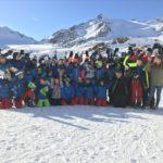 Gruppenfoto auf dem Pitztaler Gletscher
